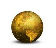 guld- jordklot Arkivbild