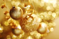 guld- jul Fotografering för Bildbyråer