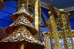 guld- jul Arkivbilder