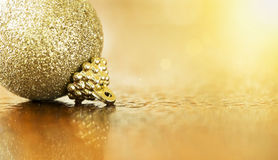 Guld- julbaner Arkivfoto