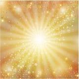 Guld- julgarnering med stjärnor Royaltyfria Foton
