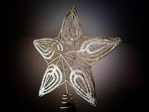 Guld- julgranstjärnagarnering Royaltyfri Fotografi