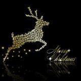guld- julhjortar Fotografering för Bildbyråer