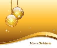 Guld- julkort vektor illustrationer