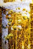 guld- julstruntsaker Arkivfoton