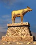 guld- kalv royaltyfri bild
