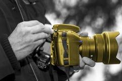 Guld- kamera 001 Fotografering för Bildbyråer