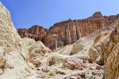 Guld- kanjon, Death Valley nationalpark Royaltyfri Foto