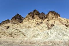 Guld- kanjon, Death Valley nationalpark Arkivbild