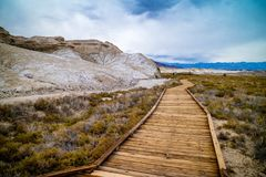 Guld- kanjonslinga i den Death Valley nationalparken arkivfoto
