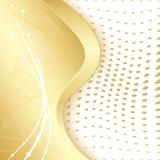 guld- kant Arkivfoton