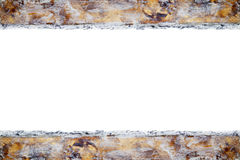 Guld- kant, klickar av målarfärg Arkivbild