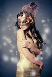 Guld- karneval Royaltyfri Fotografi