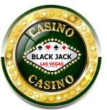 Guld- kasinobaner med briljantar royaltyfri illustrationer