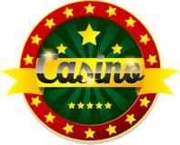 Guld- kasinobaner med stjärnor royaltyfri illustrationer
