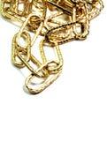 Guld- kedja royaltyfria bilder