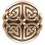 Guld- keltisk prydnad Royaltyfri Foto