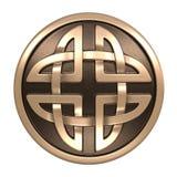 Guld- keltisk prydnad Royaltyfria Bilder