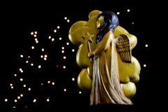 Guld- keramisk ängel arkivbilder