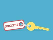 guld- key framgång till stock illustrationer