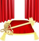 guld- key kudde Royaltyfri Foto