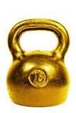 Guld- 16 kg kokkärlbel Fotografering för Bildbyråer