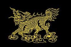 guld- kinesisk drake Royaltyfria Foton