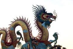 Guld- kinesisk drake Royaltyfri Fotografi