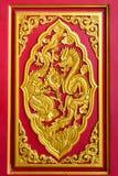 Guld- kinesiska drakar Royaltyfria Bilder