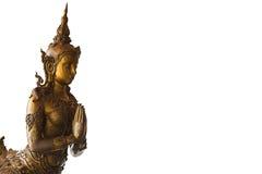 Guld- Kinnaree av Thailand Royaltyfria Bilder