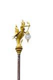 Guld- kinnaree för lampa Royaltyfria Foton