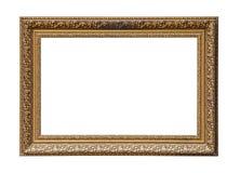 Guld- klassisk ram för målningkanfas royaltyfri foto