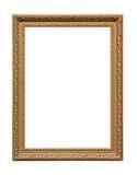 Guld- klassisk ram för målningkanfas royaltyfria bilder