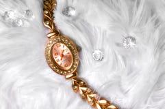 Guld- klocka Royaltyfria Bilder