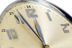 guld- klocka Fotografering för Bildbyråer