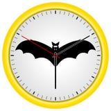 Guld- klocka för vektor med det roliga slagträet vektor illustrationer
