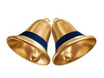 guld- klockajul Arkivfoto