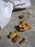 Guld- klumpar Arkivfoto