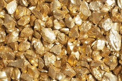 Guld- klumpar arkivfoton
