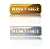 Guld- knäppas nytt prissätter Arkivbilder