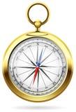 guld- kompass Royaltyfri Foto