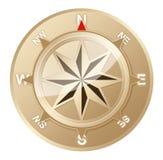 Guld- kompass Royaltyfri Fotografi