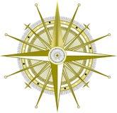 Guld- kompass Arkivfoton