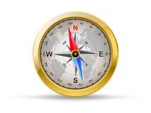 Guld- kompass vektor illustrationer
