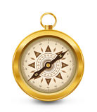 guld- kompass Royaltyfri Bild
