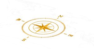 guld- kompass Arkivbild