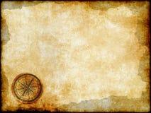 Guld- kompass med tappningöversikten stock illustrationer