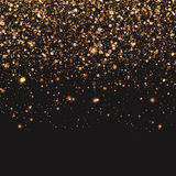 Guld- konfettibakgrundsideal för jul Arkivbild