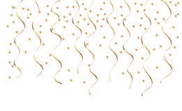 Guld- konfettier Royaltyfri Bild