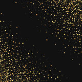 Guld- konfettier Royaltyfria Bilder